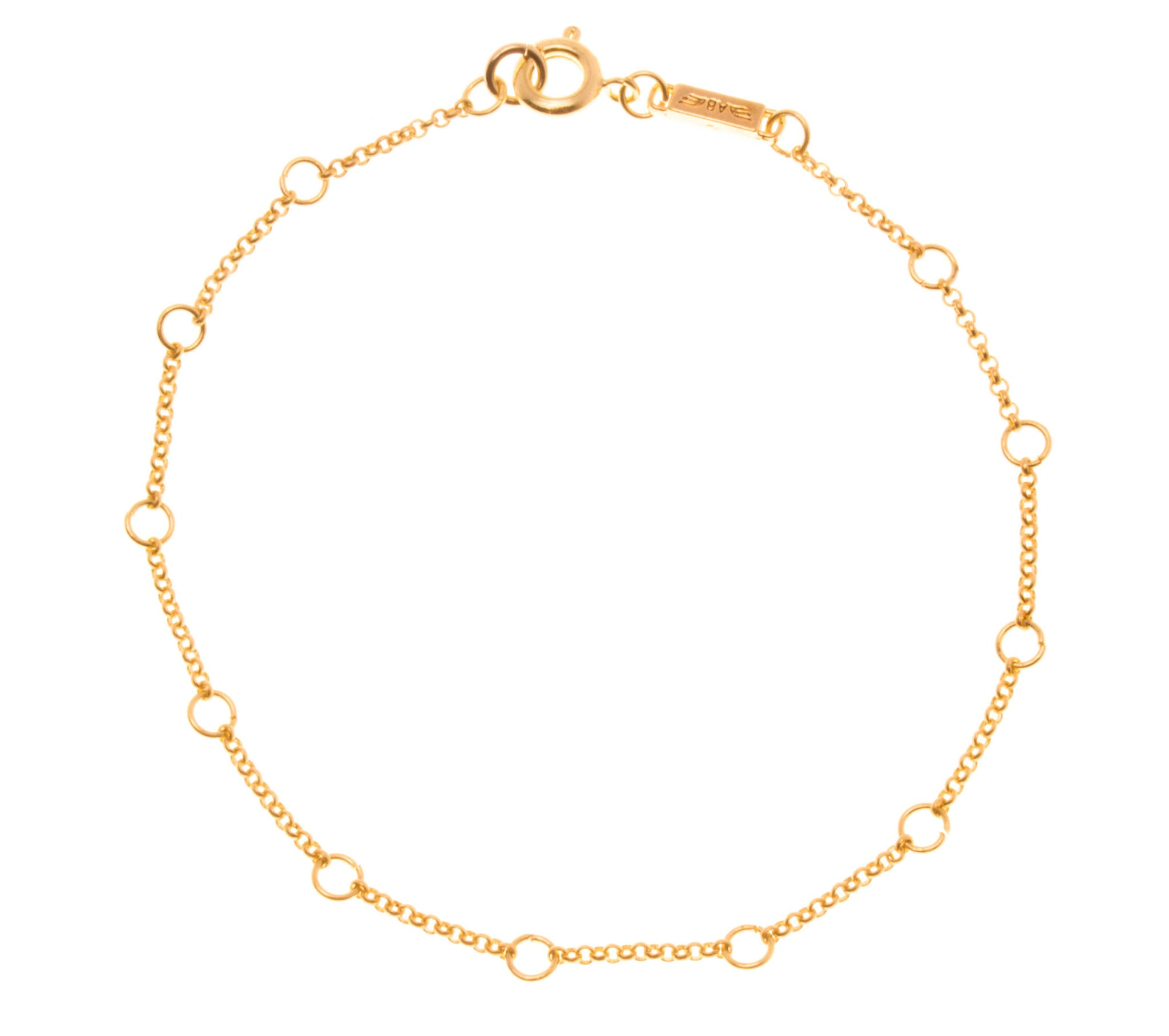 18K Gold Plated Charm Bracelet Ashley Brid
