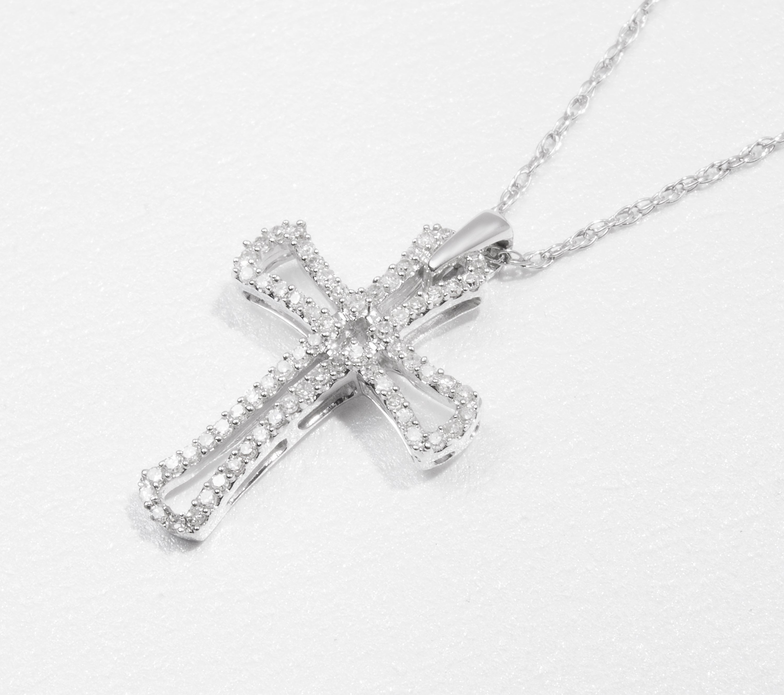 10k white gold diamond petite cross necklace includes 67 diamonds 10k white gold diamond petite cross necklace includes 67 diamonds mozeypictures Gallery