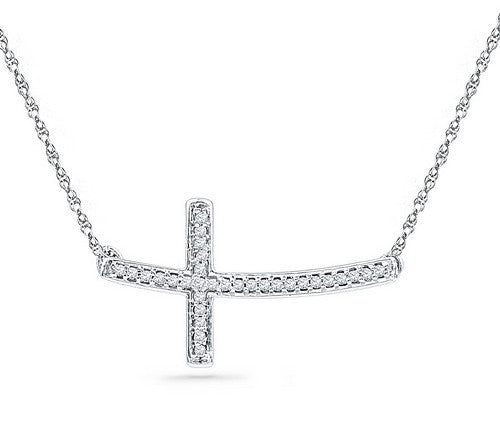 gold white chain chains necklace diamond cross in