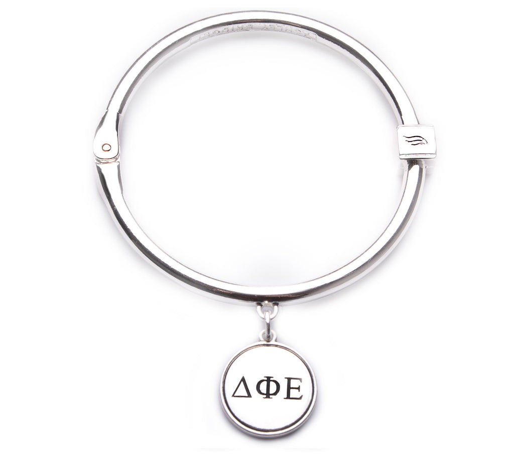 Delta Phi Epsilon Hinge Bangle Bracelet