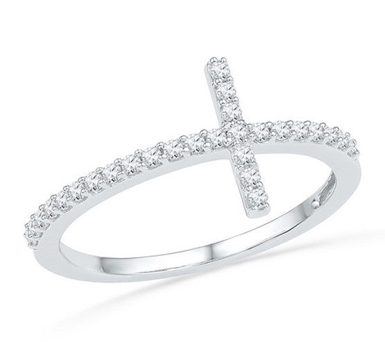 Ashley Bridget Diamond Cross Ring