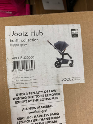 Joolz Hub Earth Collection Hippo Grey
