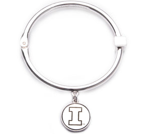 Illinois Fighting Illini Hinge Bangle Bracelet