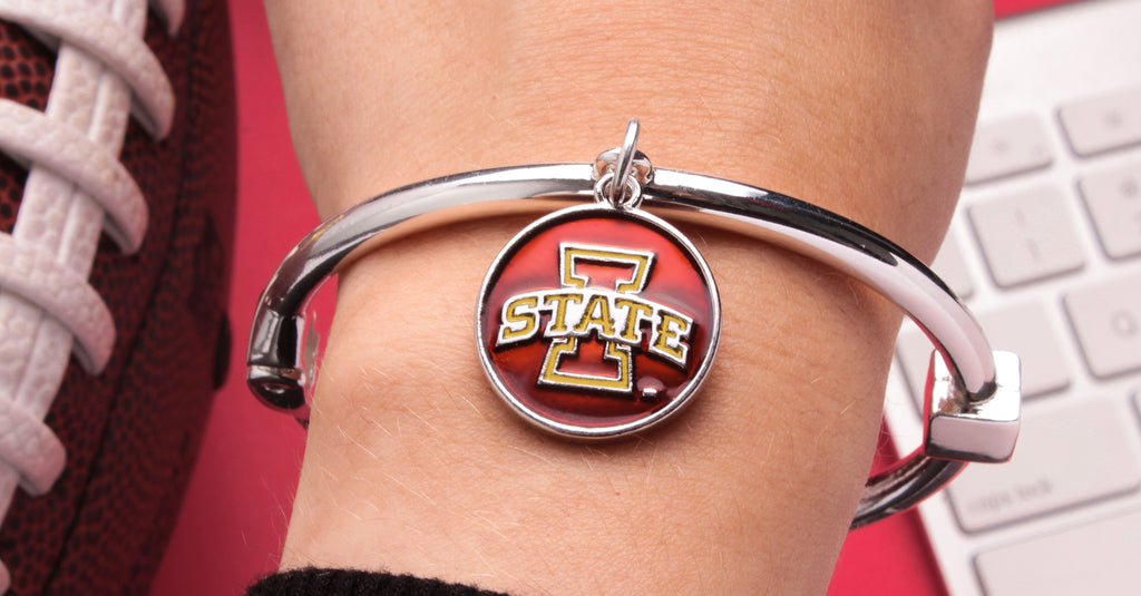 Iowa State Cyclones Hinge Bangle Bracelet