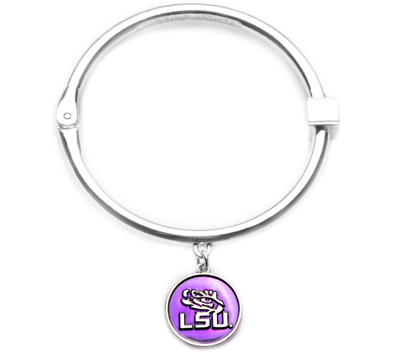 Louisiana State Tigers Hinge Bangle Bracelet