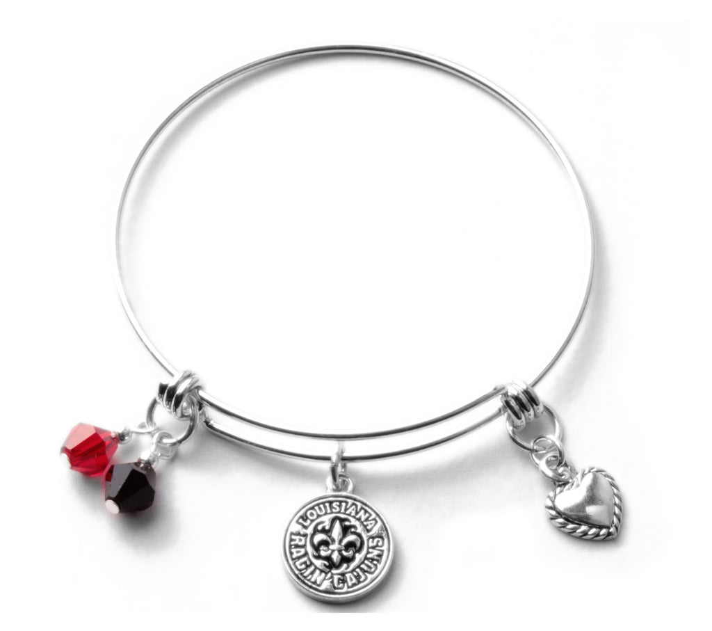 Louisiana Lafayette Ragin Cajuns Bangle Bracelet