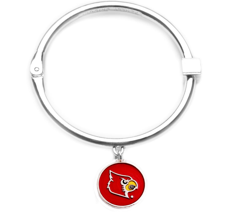 Louisville Cardinals Hinge Bangle Bracelet