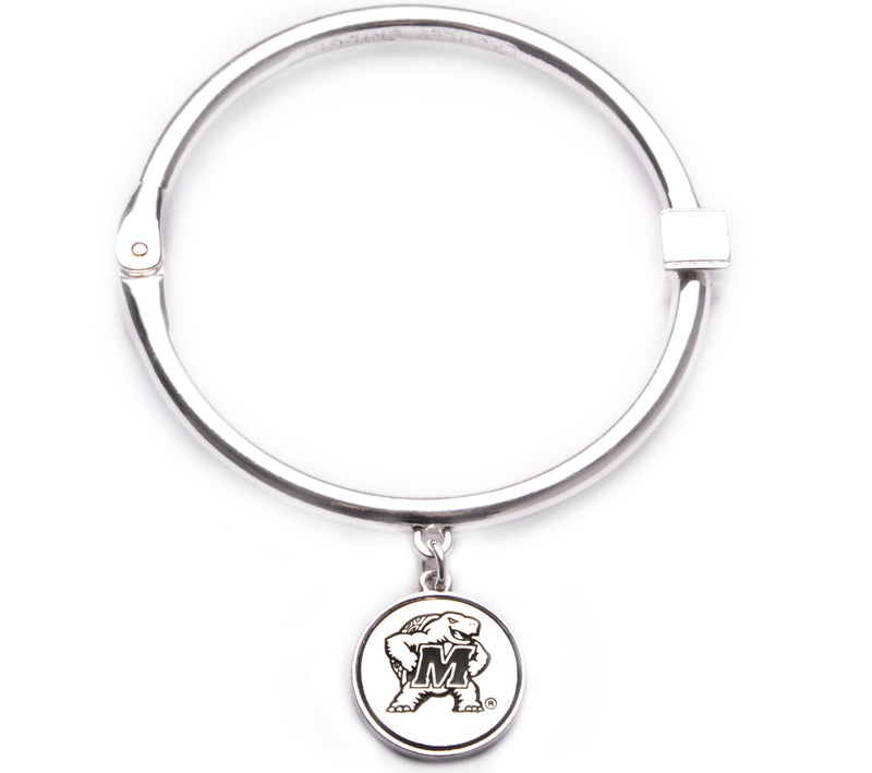 Maryland Terrapins Hinge Bangle Bracelet