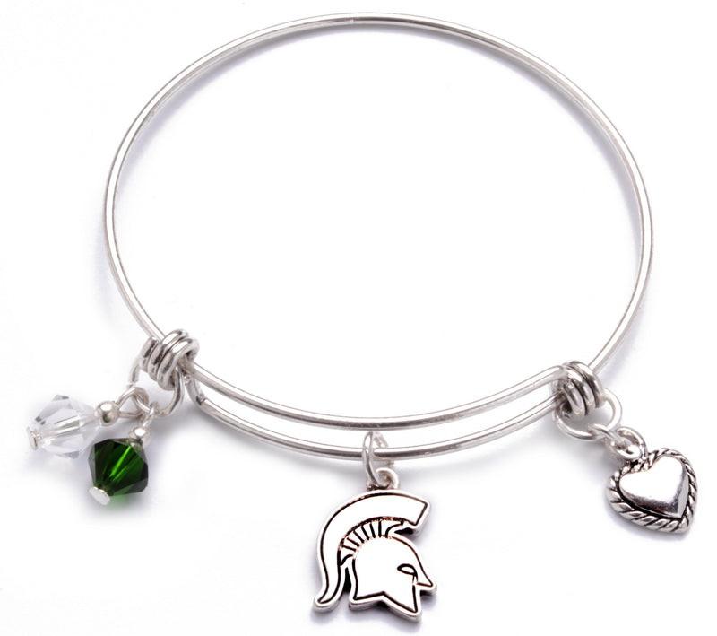 Michigan State Spartans Bangle Bracelet
