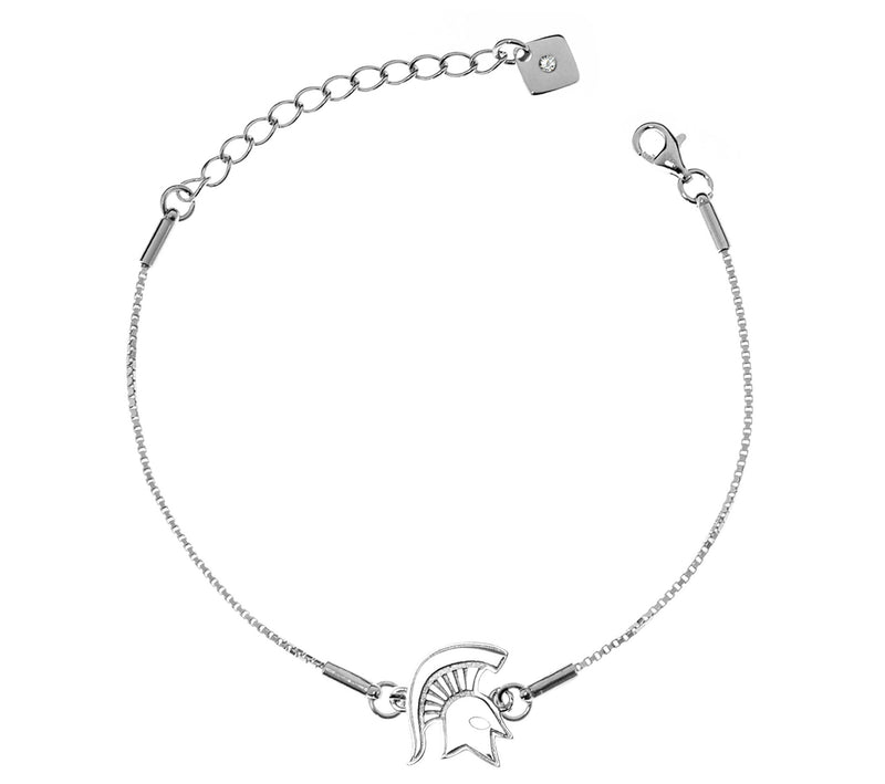 Michigan State University Spartans .925 Sterling Silver Bracelet