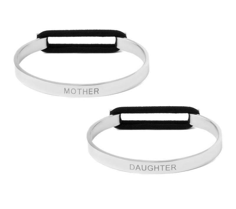 Mother Daughter Set - Skinny Cuff Elastic Bangle