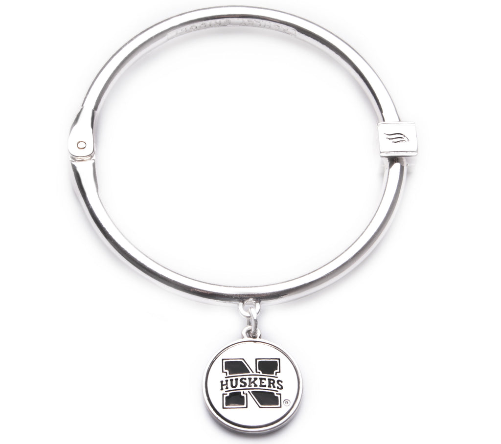 Nebraska Cornhuskers Hinge Bangle Bracelet