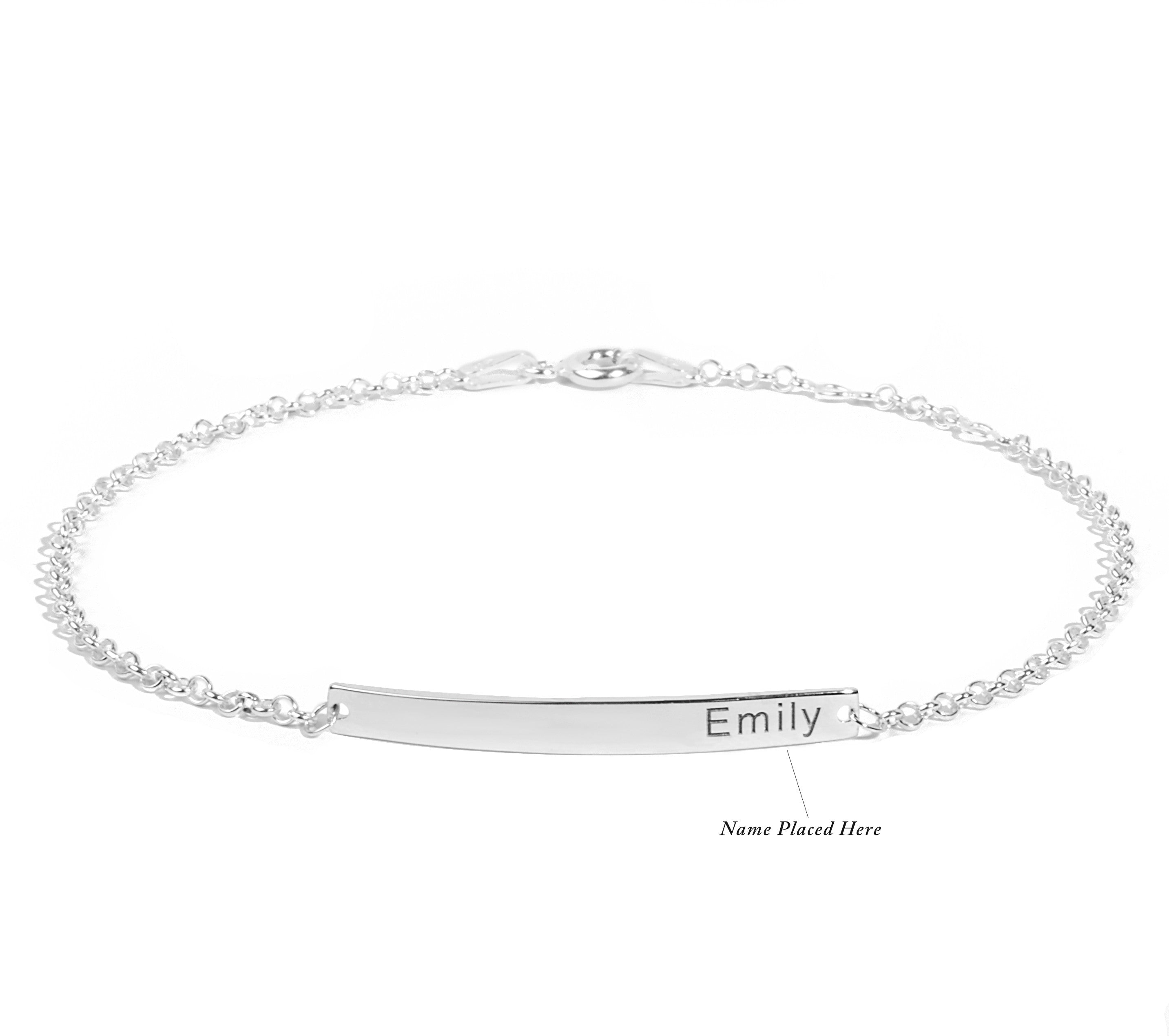 anklet name drag to limoges roll over silver larger model zoom sterling print lowercase jewelry image