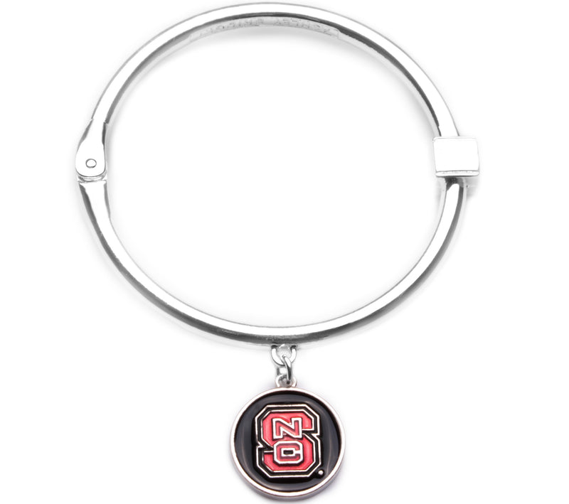 North Carolina State Wolfpack Hinge Bangle Bracelet