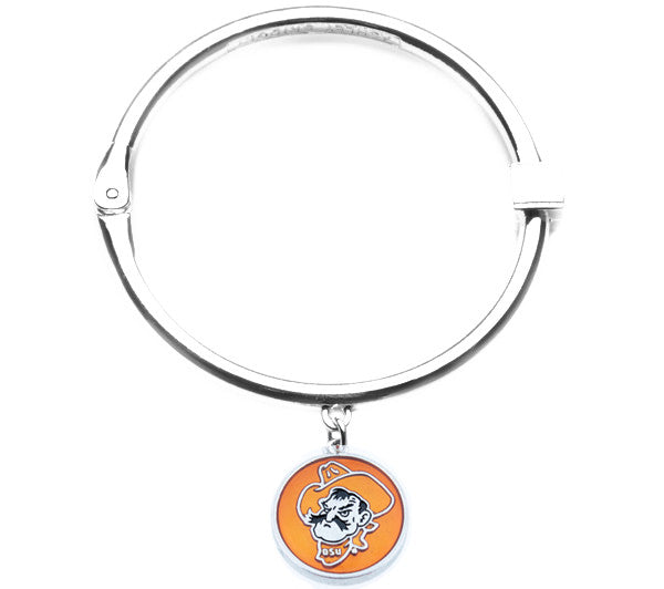 Oklahoma State Cowboys Hinge Bangle Bracelet