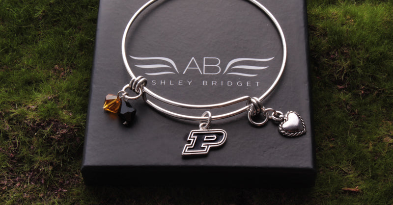 Purdue Boilermakers Bangle Bracelet