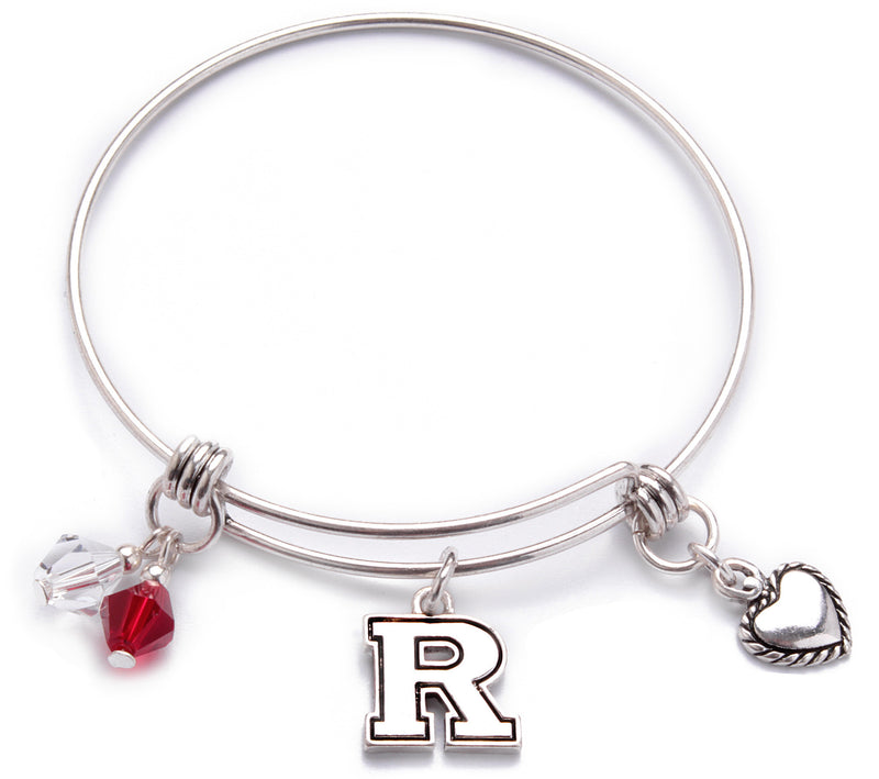 Rutgers Scarlet Knights Bangle Bracelet