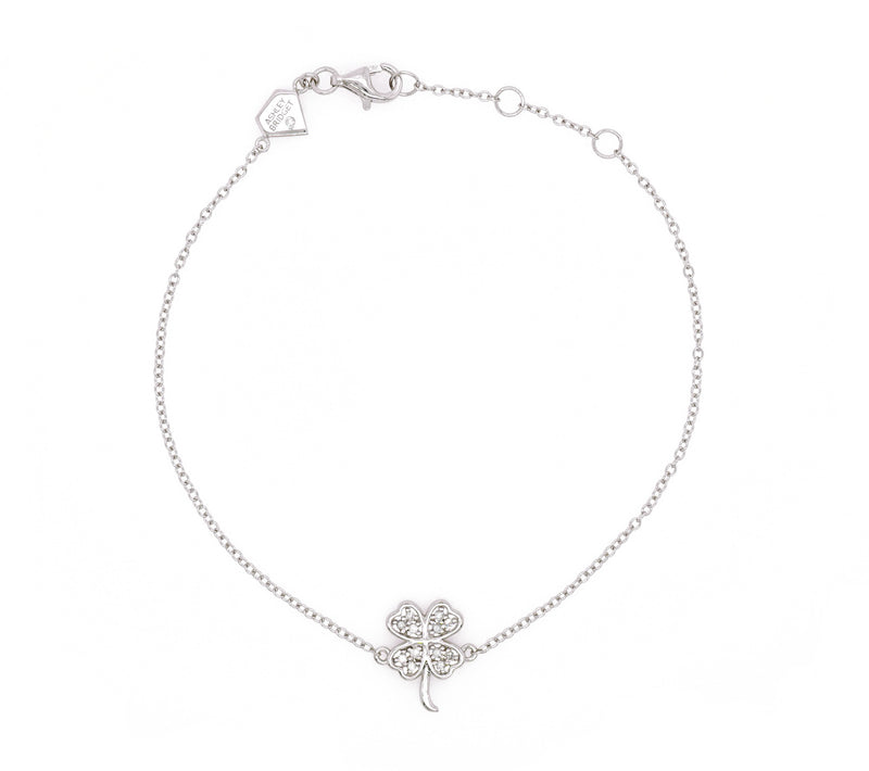 Diamond Clover Charm Bracelet (Includes 13 diamonds)