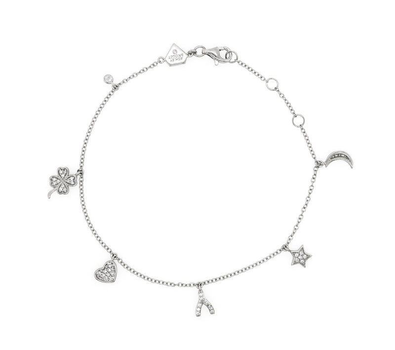 Diamond Mini Charm Bracelet (Includes 43 diamonds)