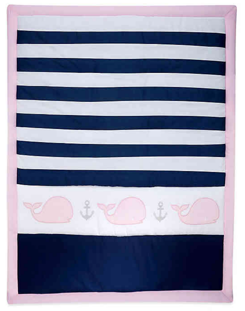Nautica Kids® Mix & Match Striped Whale Comforter in Navy/Pink- Limited to 1 per customer