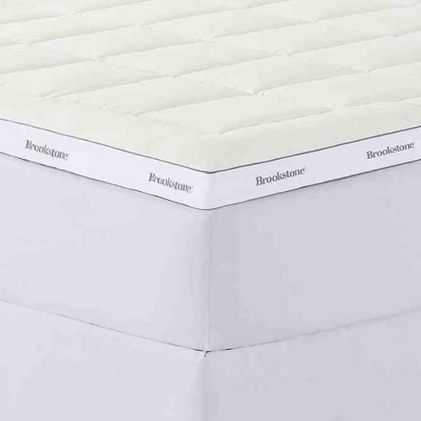 Brookstone® BioSense™ 3-Inch Foam Reversible Queen Mattress Topper in White