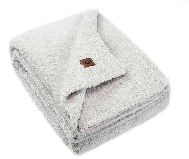 UGG® Olympia Chenille Knit Throw Blanket in Glacier Grey