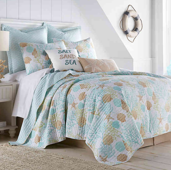 Coastal Living Humewood 3-Piece Reversible King Quilt Set