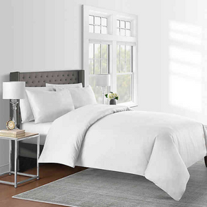 625-Thread-Count Solid Full/Queen Duvet Cover Set in White