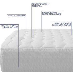 Therapedic® 250-Thread Count Queen Waterproof Mattress Pad