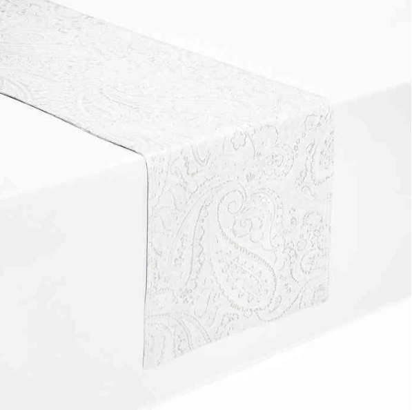 Waterford® Linens Esmerelda 90-Inch Table Runner in White
