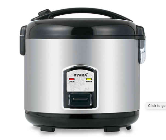 Oyama 10-Cup Stainless Steel Rice Cooker