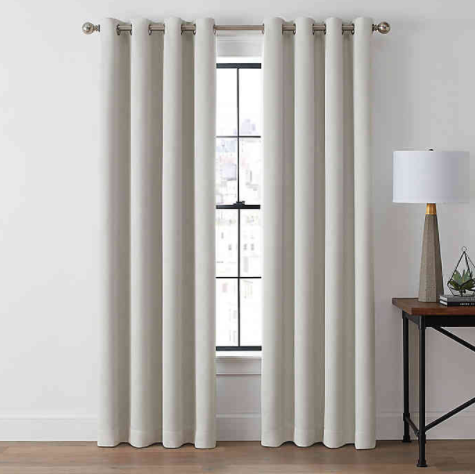 Brookstone® Zadie 95-Inch Grommet 100% Blackout Window Curtain Panel in Pearl- Limited to 1 per customer