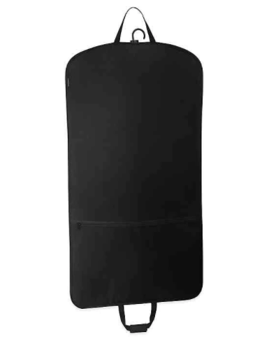 WallyBags® 45-Inch Slim Garment Bag with Pocket in Black