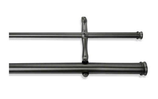 Cambria® Premier Complete 28-Inch x 48-Inch Double Drapery Rod in Graphite- Limited to 1 per customer