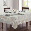 Waterford® Linens Jonet 70-Inch x 84-Inch Oblong Tablecloth in Aqua