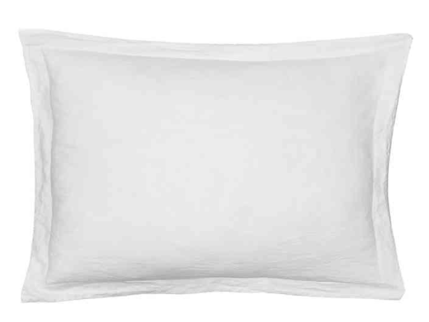 Levtex Home Washed Linen King Pillow Sham in White- Limited to 1 per customer