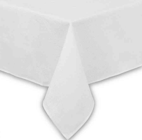 Basketweave 60-Inch x 84-Inch Oblong Tablecloth in White- Limited to 1 per customer
