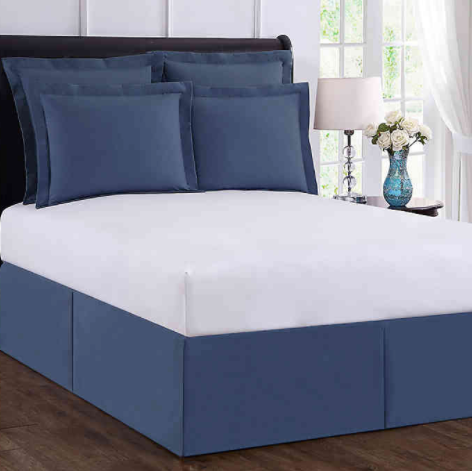 Wrap-Around Wonderskirt Queen Bed Skirt in Blue