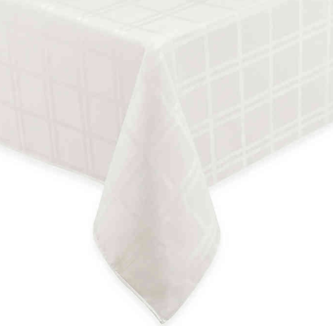 Origins™ Microfiber 60-Inch x 102-Inch Oblong Tablecloth in Bone- Limited to 1 per customer