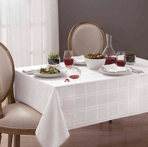 Origins™ Microfiber 60-Inch x 102-Inch Oblong Tablecloth in Bone