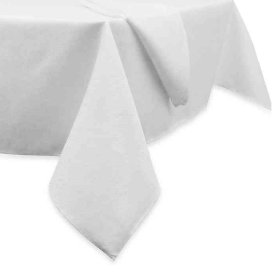 Basketweave 70-Inch Round Tablecloth in White- Limited to 1 per customer