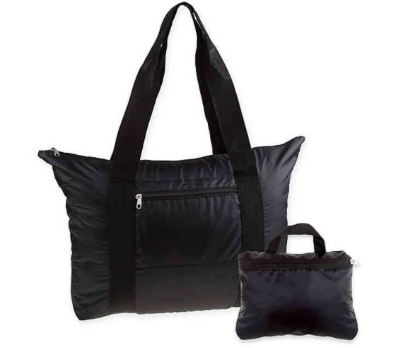 Latitude 40°N® Packable Tote in Black- Limited to 1 per customer