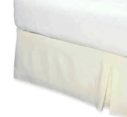 Smoothweave™ 14-Inch Tailored Queen Bed Skirt in Ivory- Limited to 1 per customer