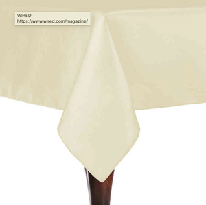 Majestic 72-Inch x 72-Inch Square Tablecloth in Ivory