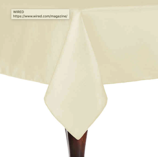 Majestic 72-Inch x 72-Inch Square Tablecloth in Ivory- Limited to 1 per customer