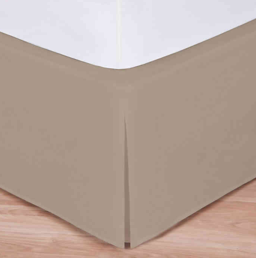 Wrap-Around Wonderskirt Twin Bed Skirt in Taupe- Limited to 1 per customer