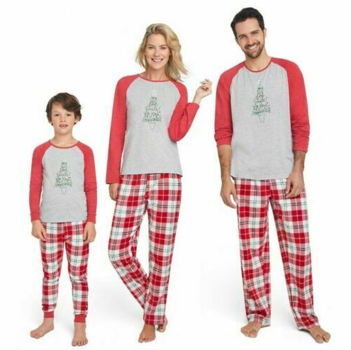 Ellen Degeneres Youth 6-8 Medium Christmas Joy Love Smile Be Kind Holiday Pj Set- Limited to 1 per customer