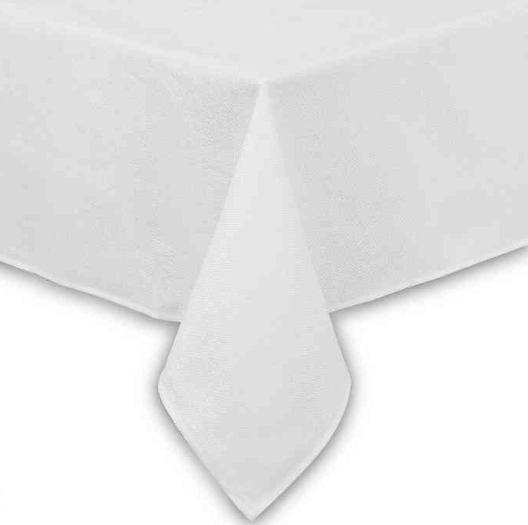 Basketweave 52-Inch x 70-Inch Oblong Tablecloth in White- Limited to 1 per customer