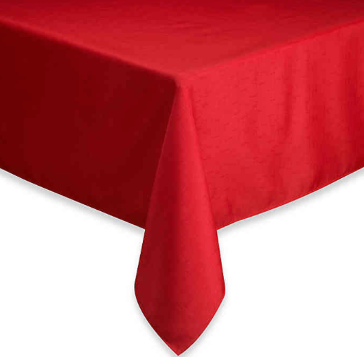 Basics 60-Inch x 120-Inch Oblong Tablecloth in Ruby- Limited to 1 per customer