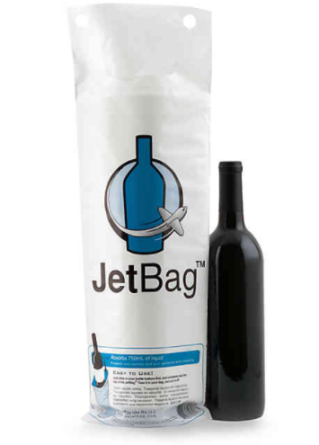 JetBags Resealable Padded Wine Bags (Set of 3)- Limited to 1 per customer